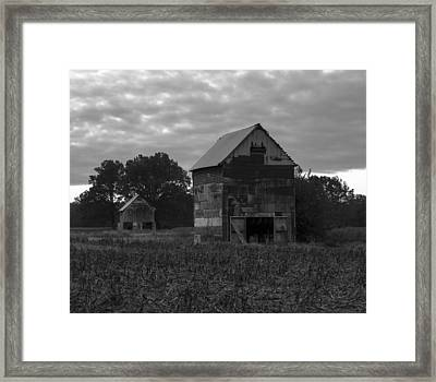 Tobacco Barns Framed Print