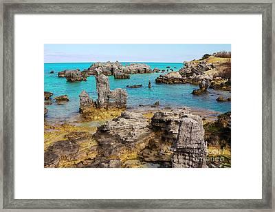 Tobacco Beach In Bermuda Framed Print
