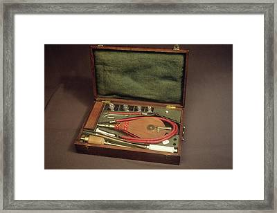 Tobacco Enema Framed Print by Science Photo Library