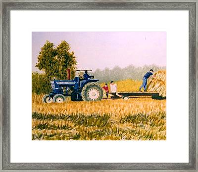 Framed Print featuring the painting Tobacco Farmers by Stacy C Bottoms
