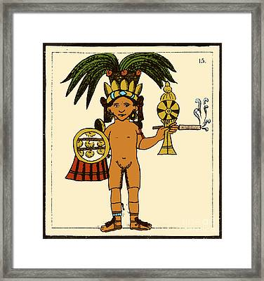 Tobacco In Aztec Ritual, Florentine Framed Print by Science Source