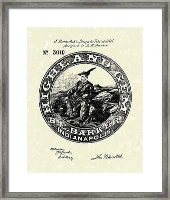 Tobacco Label  Patent Art Framed Print by Prior Art Design