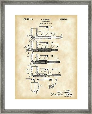 Tobacco Pipe Patent 1944 - Vintage Framed Print by Stephen Younts