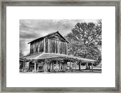 Tobacco Road Bw Framed Print by JC Findley