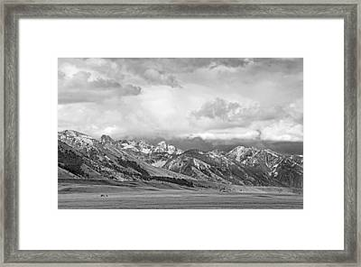 Tobacco Root Mountains Montana Black And White Framed Print by Jennie Marie Schell