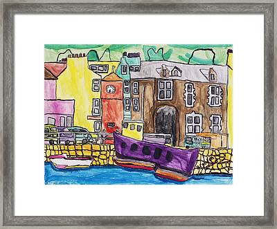 Framed Print featuring the painting Tobermory by Artists With Autism Inc