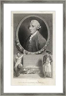 Tobias Smollett (1721 - 1771) - Framed Print by Mary Evans Picture Library