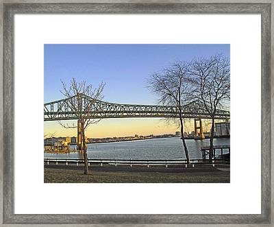 Tobin Bridge Framed Print