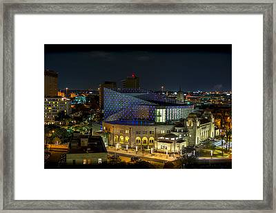 Tobin Center For The Performing Arts Framed Print by David Morefield