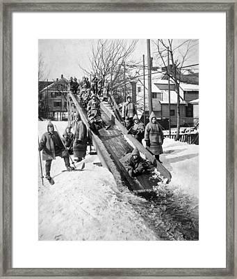 Toboggan Slide Framed Print