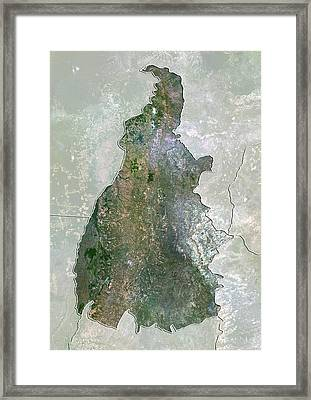 Tocantins, Brazil, Satellite Image Framed Print by Science Photo Library