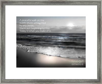 Today Black And White Framed Print by Jeffery Fagan