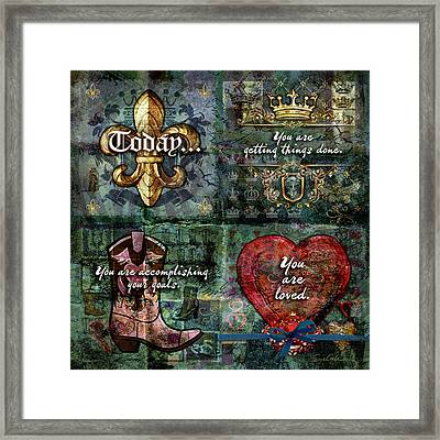 Today Framed Print by Evie Cook
