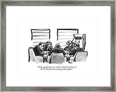 Today, Gentlemen, We Trade In The Brute Force Framed Print
