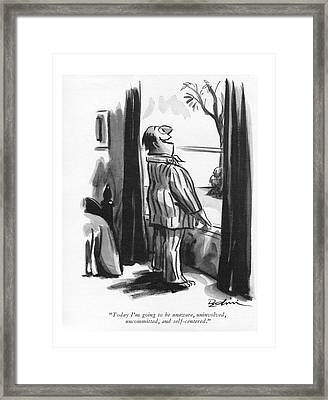 Today I'm Going To Be Unaware Framed Print by Eldon Dedini