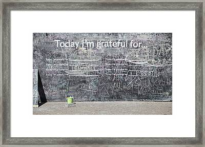 Today I'm Grateful For Framed Print by Jim Nelson