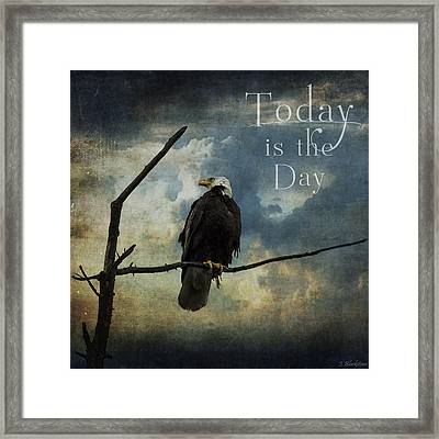 Today Is The Day - Inspirational Art By Jordan Blackstone Framed Print