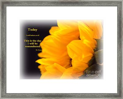 Today Framed Print
