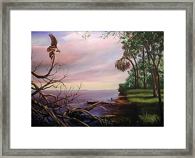 Framed Print featuring the painting Today's Catch by AnnaJo Vahle