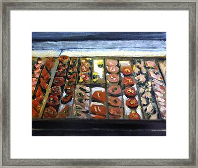 Today's Catch Framed Print by David Zimmerman
