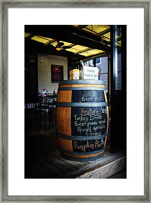 Today's Features Framed Print by Tanya Harrison