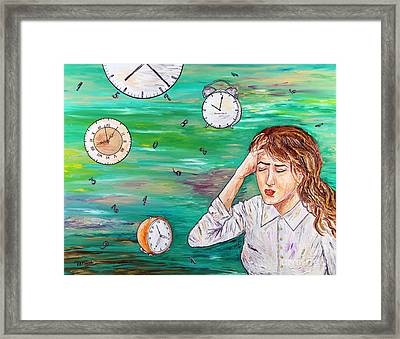 Today's Woman Framed Print by Loredana Messina