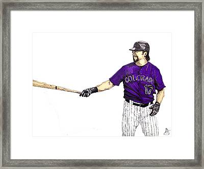 Todd Helton Framed Print by Joshua Sooter