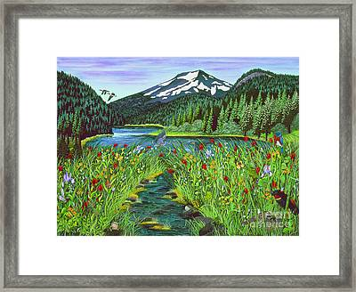 Todd Lake Mt. Bachelor Framed Print