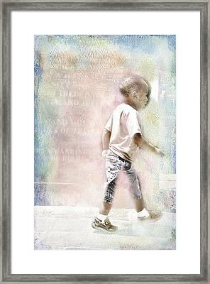 Toddler On The Prowl Framed Print by Davina Washington