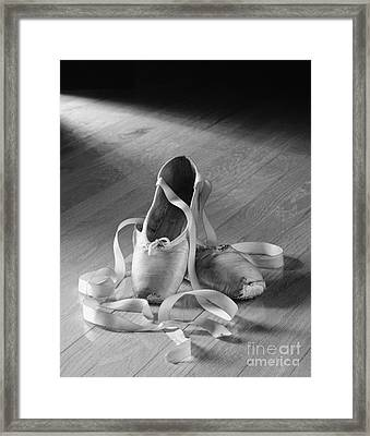 Toe Shoes Framed Print by Tony Cordoza