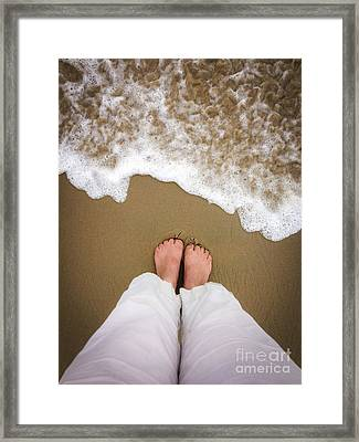 Toes In The Sand Framed Print by Diane Diederich