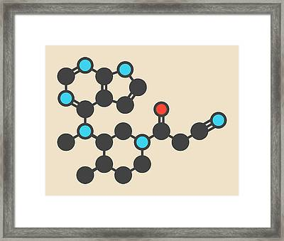 Tofacitinib Molecule Framed Print by Molekuul