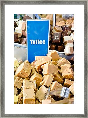 Toffee Fudge Framed Print