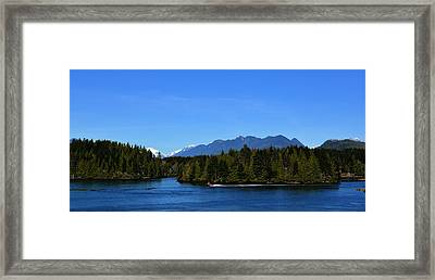 Tofino Bc Clayoquot Sound Browning Passage Framed Print by Lawrence Christopher
