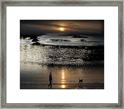 Tofinoscape Dusk Framed Print by Lyn  Perry