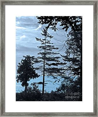 Toft Point Blue Framed Print by Jim Rossol