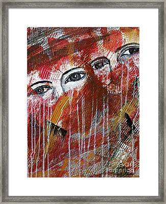 Together- Abstract Art Framed Print