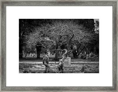 Together Even In Death Framed Print by Amber Kresge