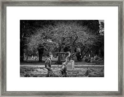 Together Even In Death Framed Print