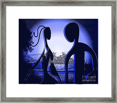 Framed Print featuring the digital art Together Forever 2 by Iris Gelbart