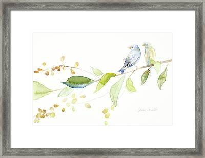 Together Forever Birds Framed Print