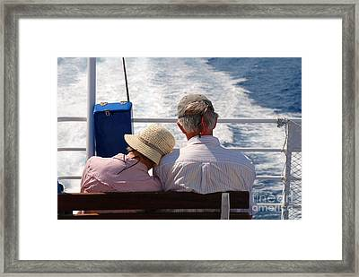 Together In Greece Framed Print