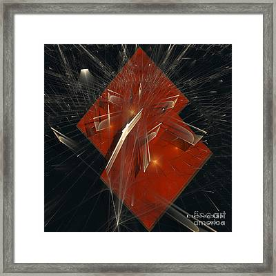 Framed Print featuring the digital art Together by Melissa Messick