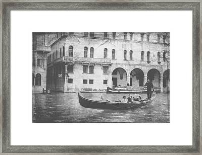 Together On The Canal  Framed Print by Steven  Taylor