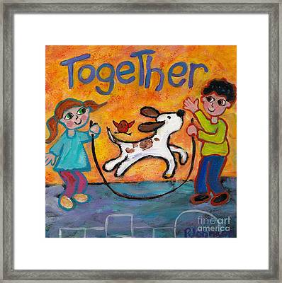Together Framed Print by Peggy Johnson