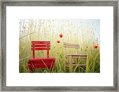 Together Then Framed Print by Violet Gray