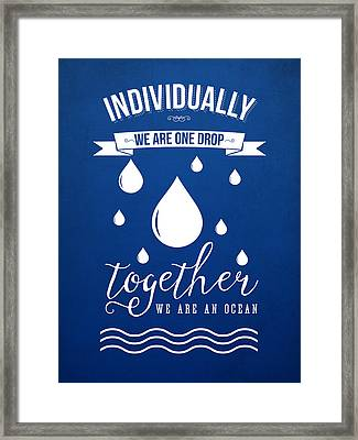 Together We Are An Ocean Framed Print