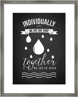 Together We Are An Ocean - Dark Framed Print