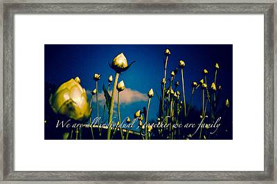 Together We Are Family Framed Print