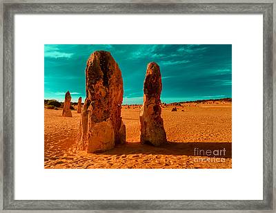 Together We Stand Departed Framed Print by Julian Cook